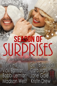 Season of Surprises Cover 2 Barnes and Noble with bestselling author on it