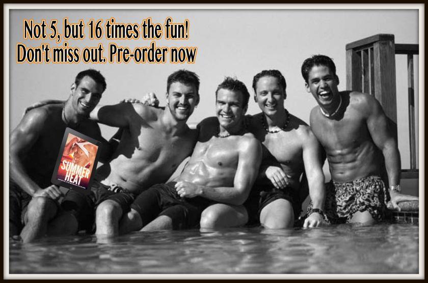 5 guys by pool framed