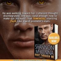 A wild predator's eyes that see: Right Through Me by Shannon McKenna #BookReview #Suspense @Barclay_PR @ShannonMcKenna4