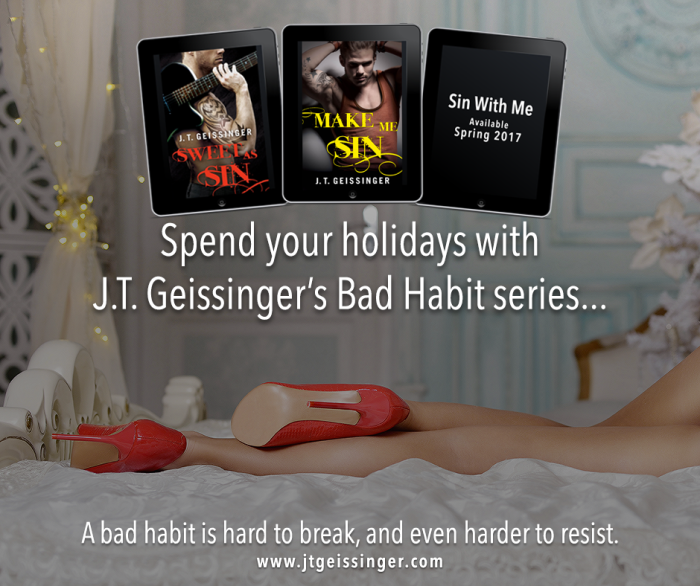 Want something a little different this holiday season? Grab a rockstar! @JTGeissinger Bad Habit series! #amreading http://amzn.to/2aZamNb
