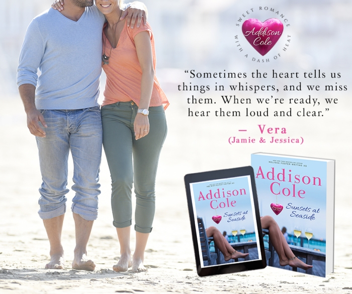 Sometimes the heart tells us things in whispers… Sunsets at Seaside by @Addison_Cole #Beachreads #Romance@PrismBookTours