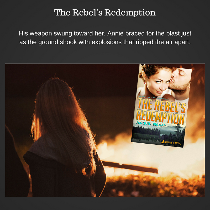 His weapon swung toward her. Annie braced for the blast just as the ground shook with explosions that ripped the air apart.