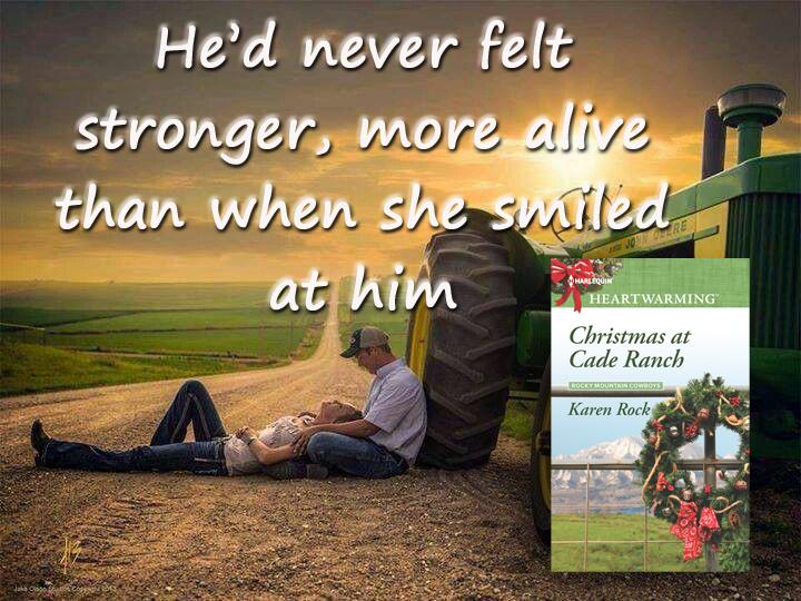 Christmas at Cade Ranch she smiled at him