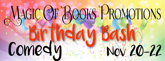 Magic of Books Birthday Bash featuring #RomCom #reading @MoBPromos