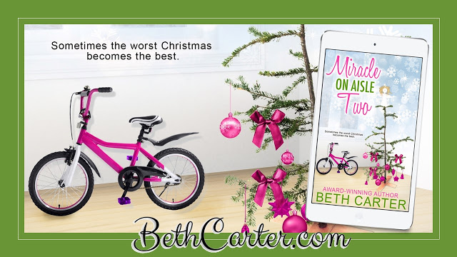Miracle on Aisle Two by Beth Carter #HolidayRomance #Reading @MoBPromos@bethcarter007