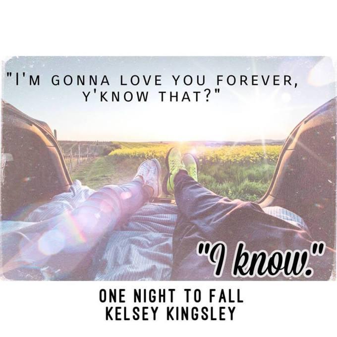 One Night To Fall by Kelsey Kingsley #amreading #Romance @InkSlingerPR @kelswritesstuff