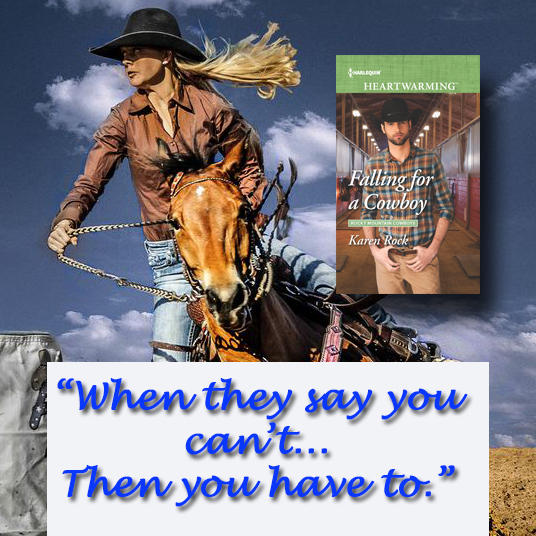 Doesn't he get that she's blind? Falling for a Cowboy by Karen Rock #Harlequin #HeartwarmingRomance @PrismBookTours @KarenRock5
