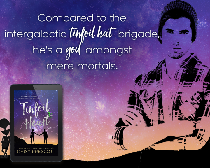 A new #romanticcomedy about love, letting go, and little green men… Tinfoil Heart by @Daisy_Prescott #Reading #Bookish @InkSlingerPR