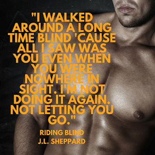 Riding Blind by @JL_Sheppard #MCRomance #amreading@MoBPromos