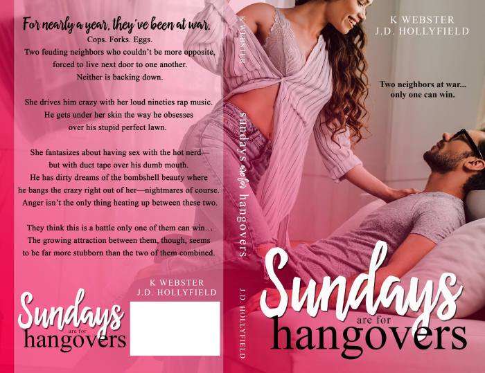 Anger isn't the only thing heating up between these two… Sundays are for Hangovers by @KristiWebster and @JDHollyfield #RomComedy#NewRelease