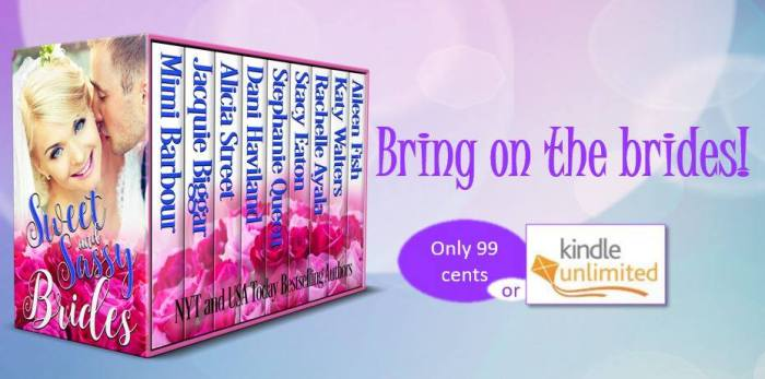 This box set is our homage to the sweet and sassy side of romance. We hope you enjoy! Sweet and Sassy Brides #Summerreading #Romance #mgtab@MoBPromos