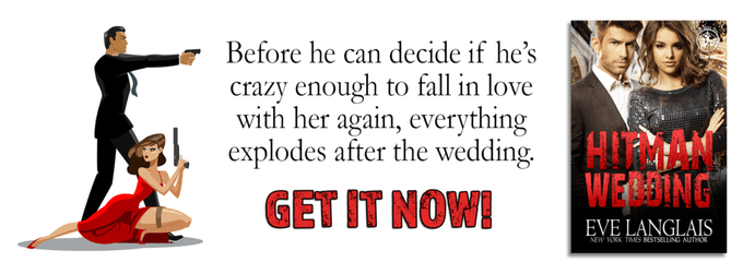 The bride sported the latest in bullet proof corsets. The groom wore a gun… Hitman Wedding by @EveLanglais #Suspense #amreading @InkSlingerPR