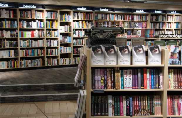 view of books in shelf