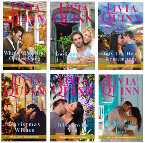 The Calloways of Rainbow Bayou. A small-town contemporary #romance series by @LiviaQuinn#reading