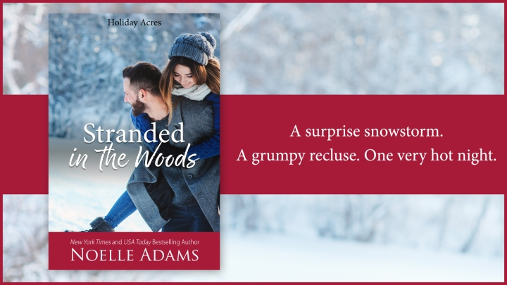 A surprise snowstorm. A grumpy recluse. One very hot night… Stranded in The Woods by @NoelleAdams3 #Romance #Reading @Barclay_PR