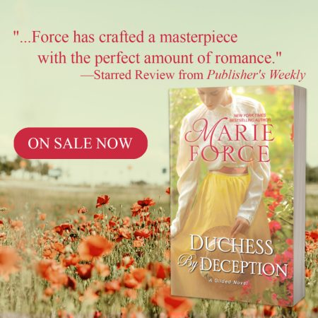 The clock is ticking for a wealthy Duke… Duchess by Deception… @MarieForce #Historical #Romance @InkSlingerPR
